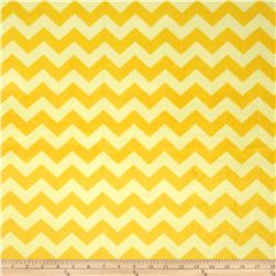 Riley Blake Dreamy Minky Medium Chevron Tone on Tone Yellow