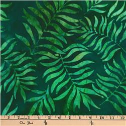 Artisan Batiks Totally Tropical Branches Island Green Fabric