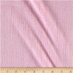 Leno Cotton Stripe Gauze Pink