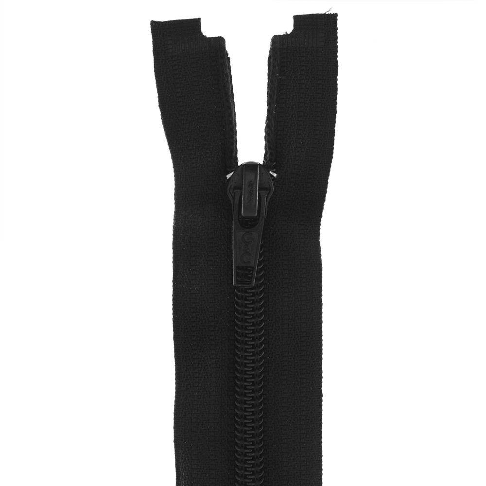 "Coats & Clark Coil Separating Zipper 18"" Black"