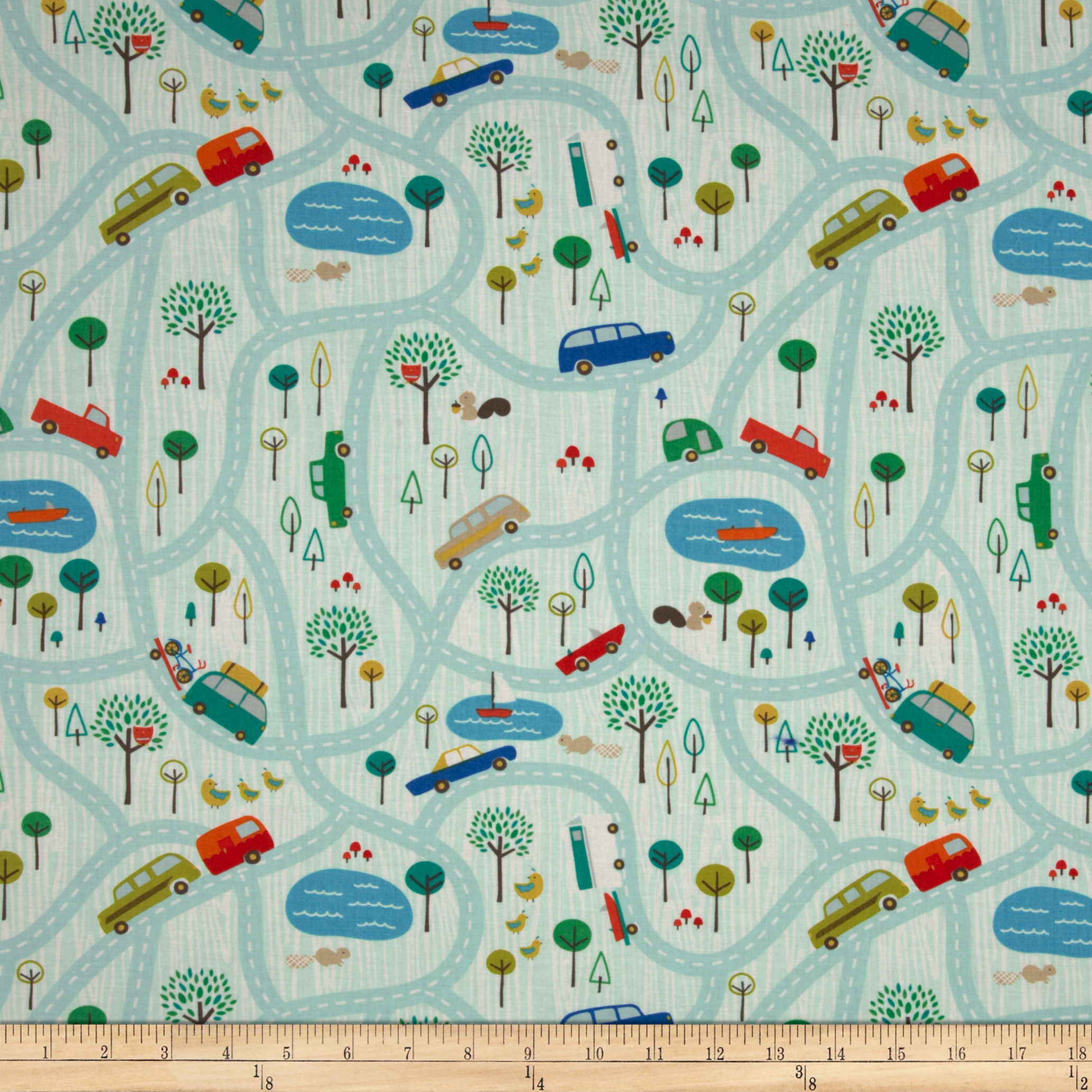 Riley Blake Scenic Route Main Blue Fabric