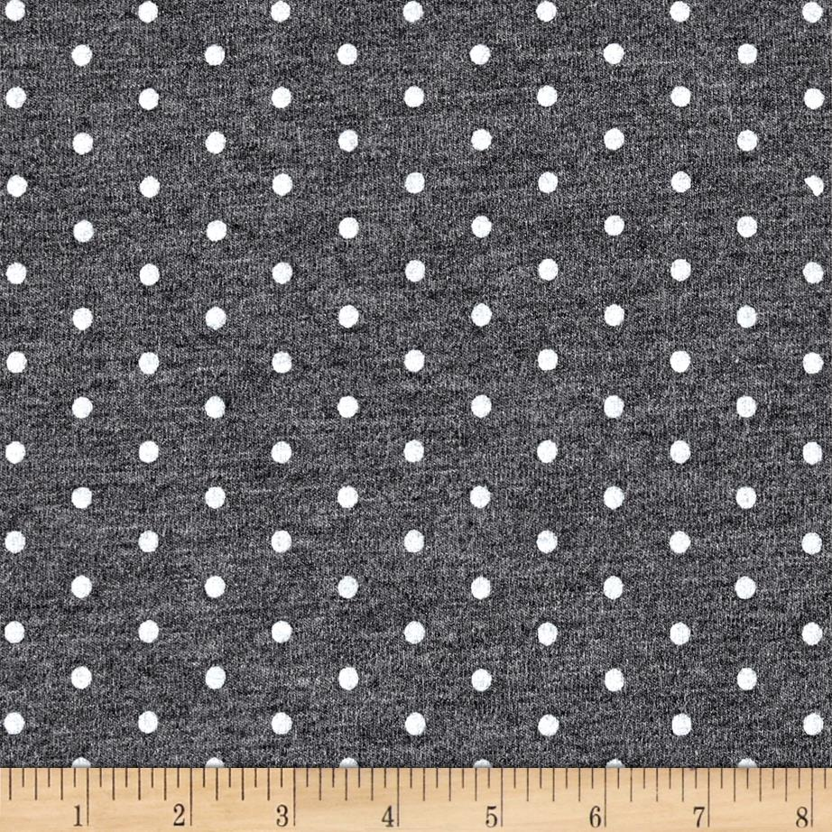 Telio Stretch Bamboo Rayon Jersey Knit Dot Grey/Mix