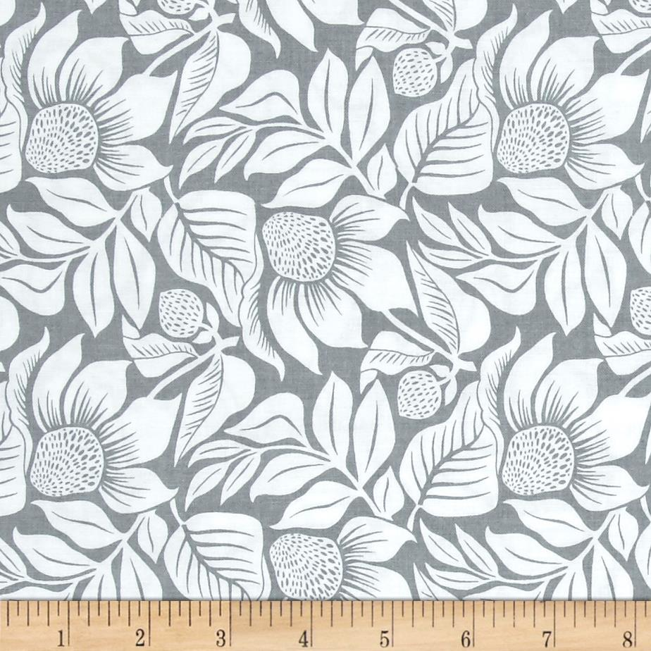 Modern Mixers III Large Floral Gray