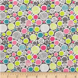 Madina Tossed Dots Grey/Multi