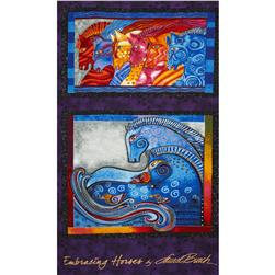 "Laurel Burch Embracing Horses Metallic 24"" Panel Multi"