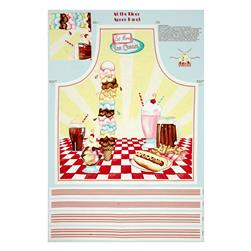 "At The Diner Apron 24"" Panel Multi"