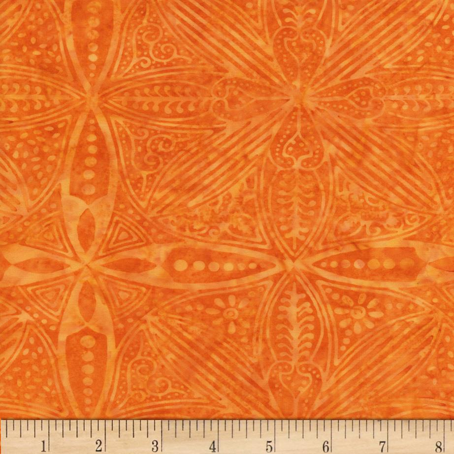 Timeless Treasures Tonga Batik Carnivale Kaleidcope Orange