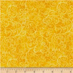 Timeless Treasures Breeze Scroll Blender Yellow