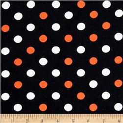 Halloween Basics Dots Black/Multi Fabric