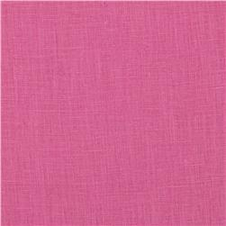 Linen Cotton Shirting Fuchsia