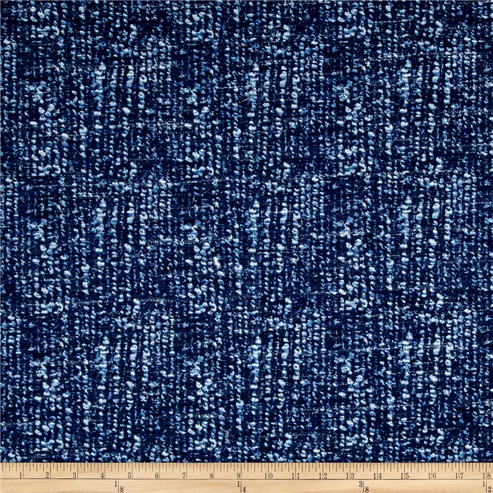 Kaufman Cotton Boucle Prints Mottle Indigo