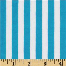 Minky Cuddle Striped Azure/White