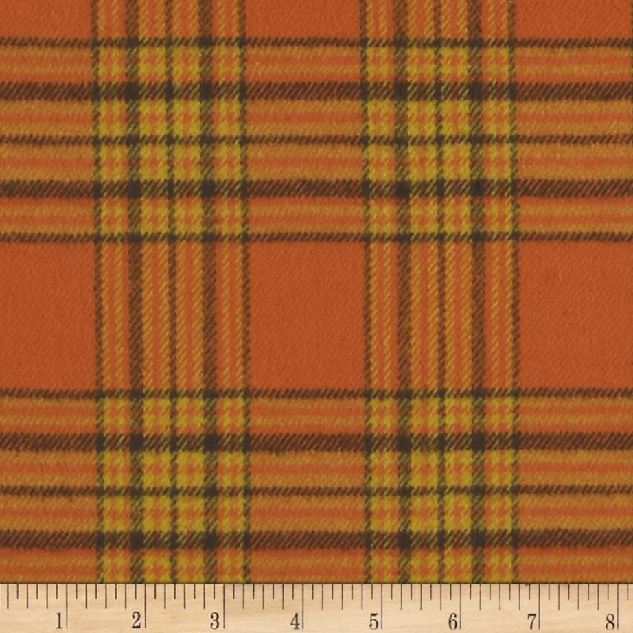 Primo Plaids Harvest Flannel Plaid Orange