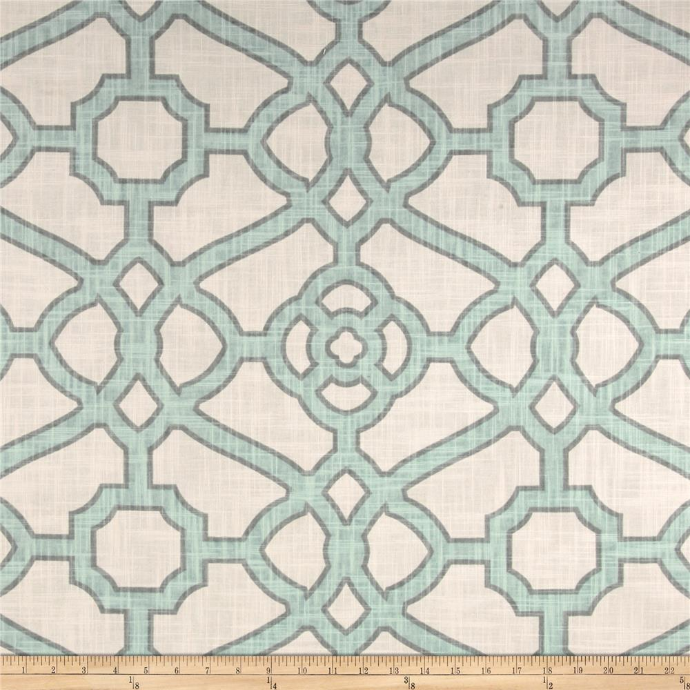 P Kaufmann Pavilion Fretwork Tropical Blue