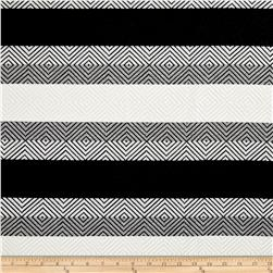 Telio Hamilton Jacquard Knit Infinity Diamond Shapes White/Gray