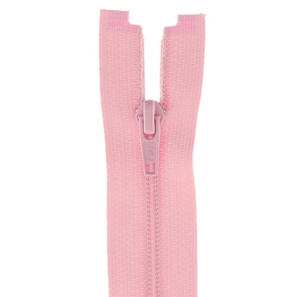 "Coats & Clark Coil Separating Zipper 18"" Light Pink"