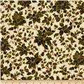 Moda Holly Night Metallic Holly Cream