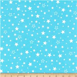 Robert Kaufman Cozy Cotton Flannel Stars Aqua