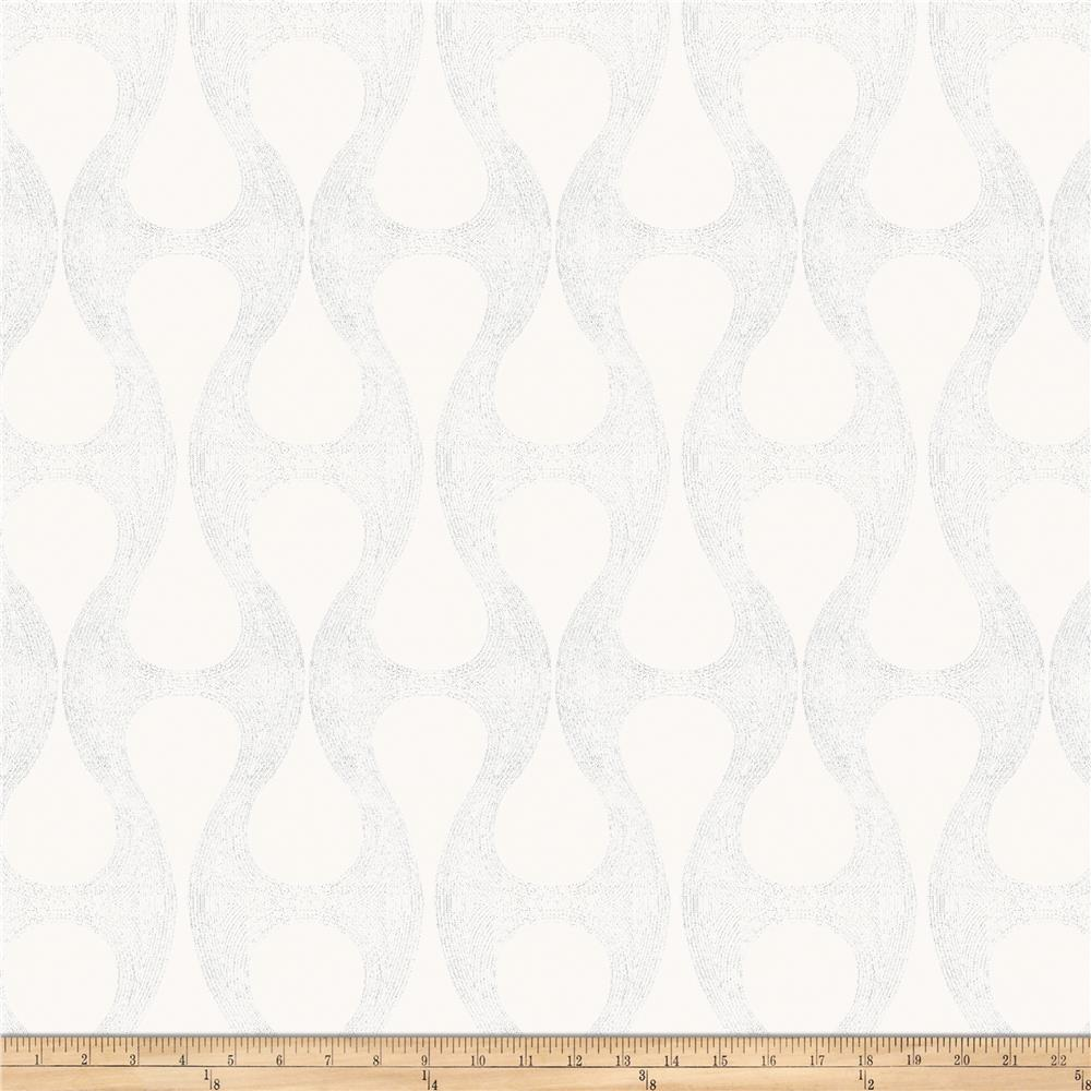 Fabricut Glastonbury Faux Silk White