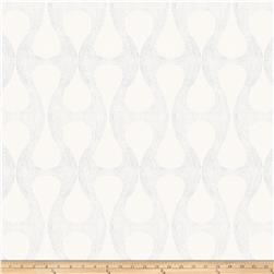 Fabricut Glastonbury Satin Jacquard White