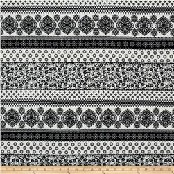 Rayon Challis Bohemeian Black/white