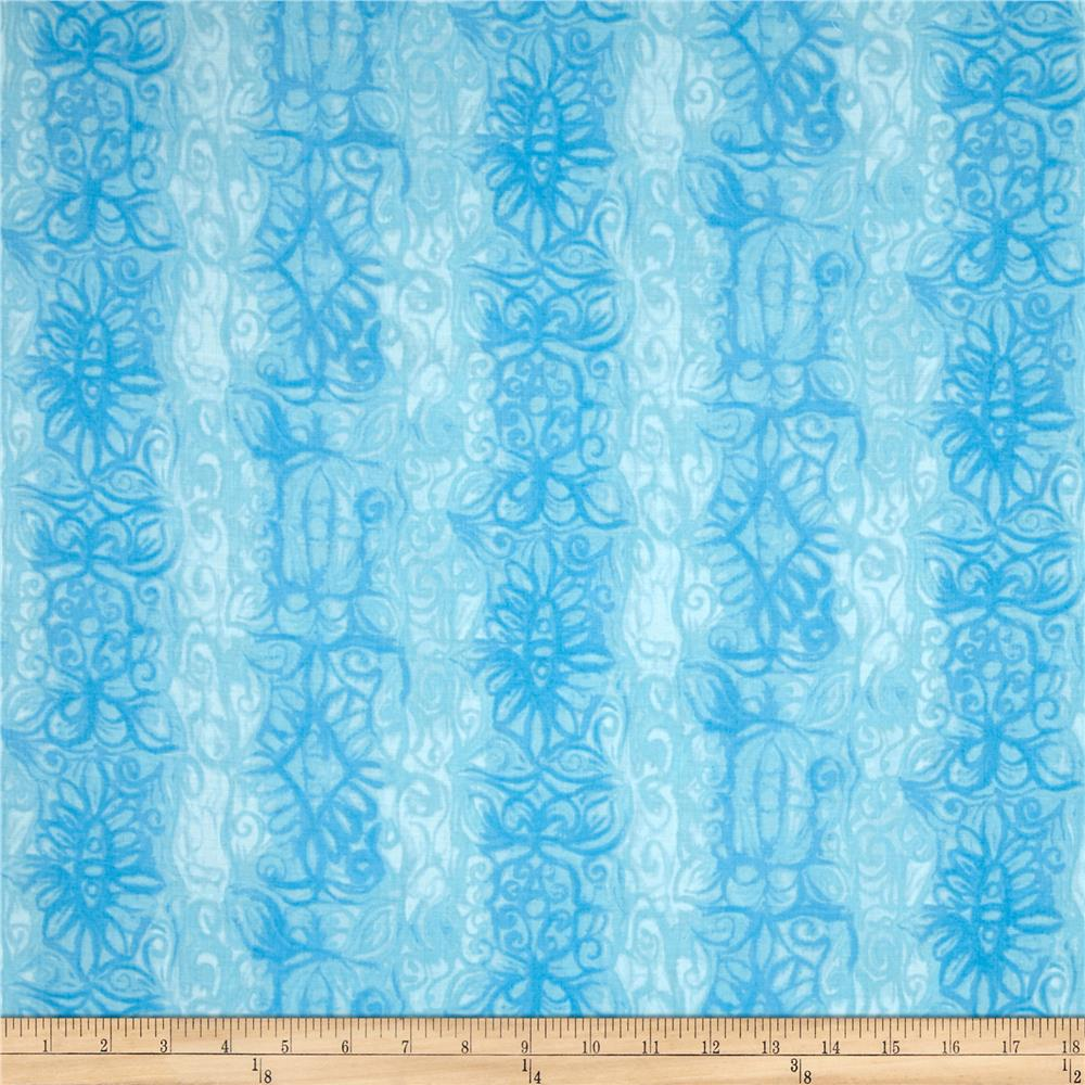 Soft Dreams Abstract Stripe Blue