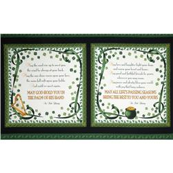 A Wee Bit Irish Blessing Panel Black