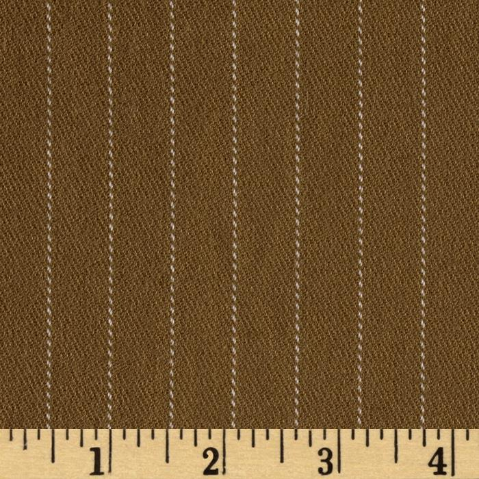 Stretch Rayon Blend Brushed Suiting Stripe Camel