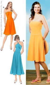 Kwik Sew Misses's Knit Dropped Waist Dresses Pattern