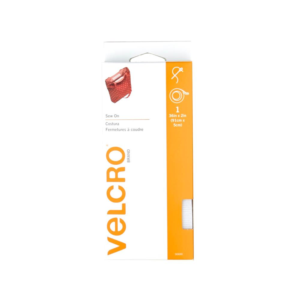 Velcro Sew On Sng Free Tape 2'' x 1yd White