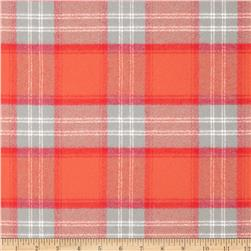 Kaufman Mammoth Flannel Plaid Orange Spice Fabric