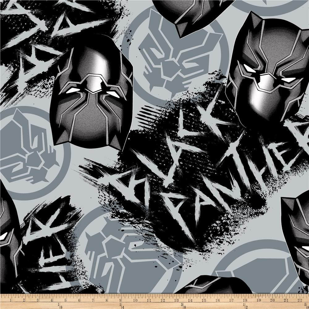 5501f455 Black Panther Theme Party Images On Marvel Black Panther Designs: Marvel  Avengers Fleece Black Panther Graffiti Gray