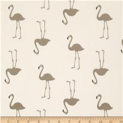 Flamingo Crepe de Chine Cream