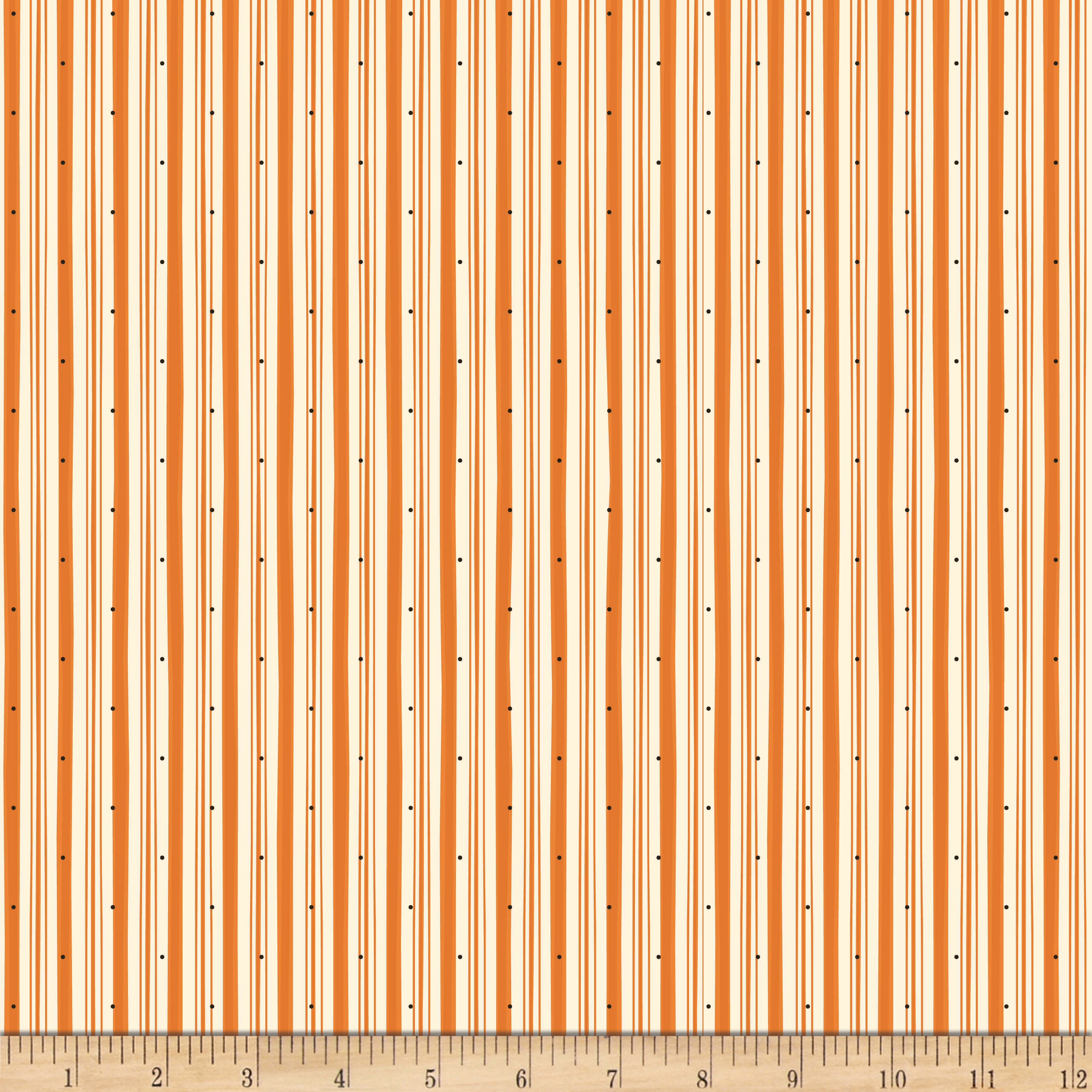 Riley Blake Witch Hazel Witch Stripe Orange
