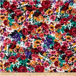 Ponte de Roma Floral Maroon/Pink/Green/Orange