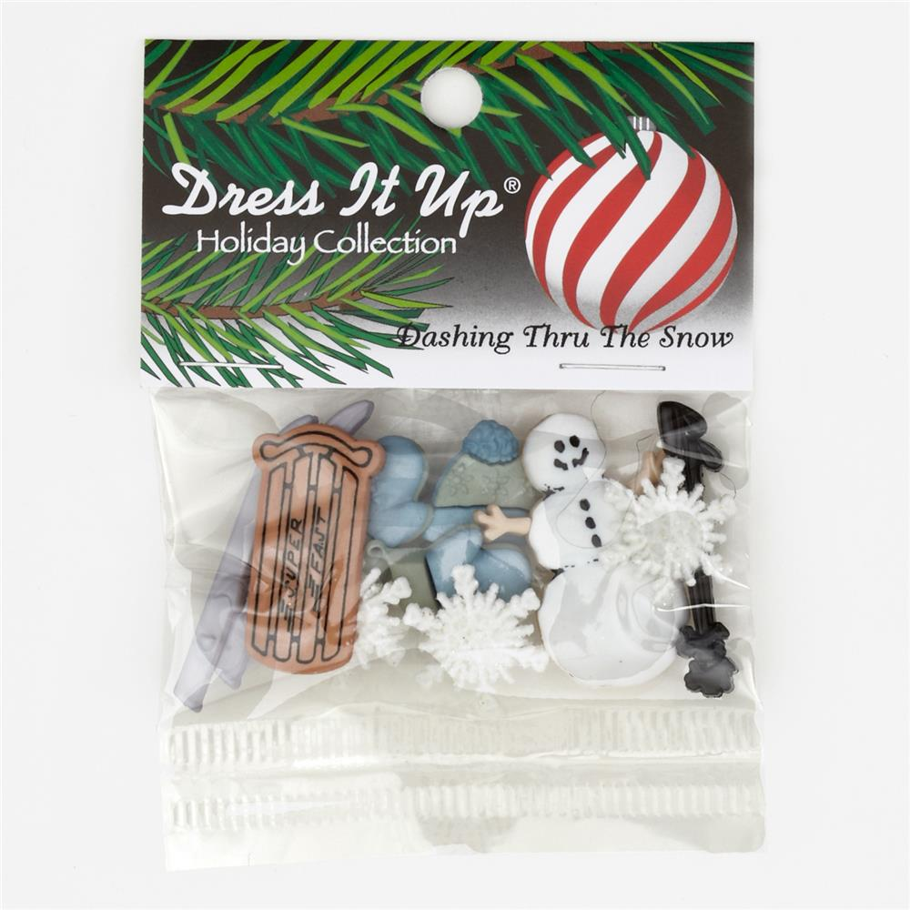 Dress It Up Embellishment Buttons  Dashing Thru The Snow