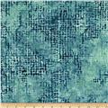 Bali Batiks Handpaints Burlap Big Sur Blue