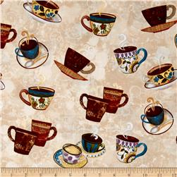 Coffee House Cups & Saucer Khaki