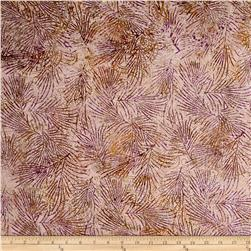 Island Batik Holiday Happenings Paisley Mauve/Tan/Grn