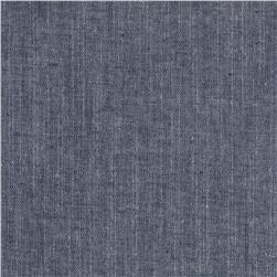 Chambray Yarn Dyed Solid Washed Navy
