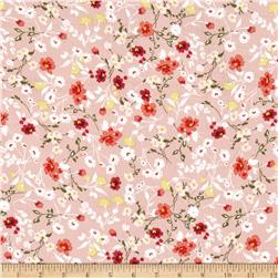 Bubble Crepe Allover Floral Blush Terracotta