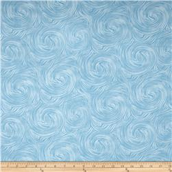 Timeless Treasures Skinny Barns Swirl Texture Blue