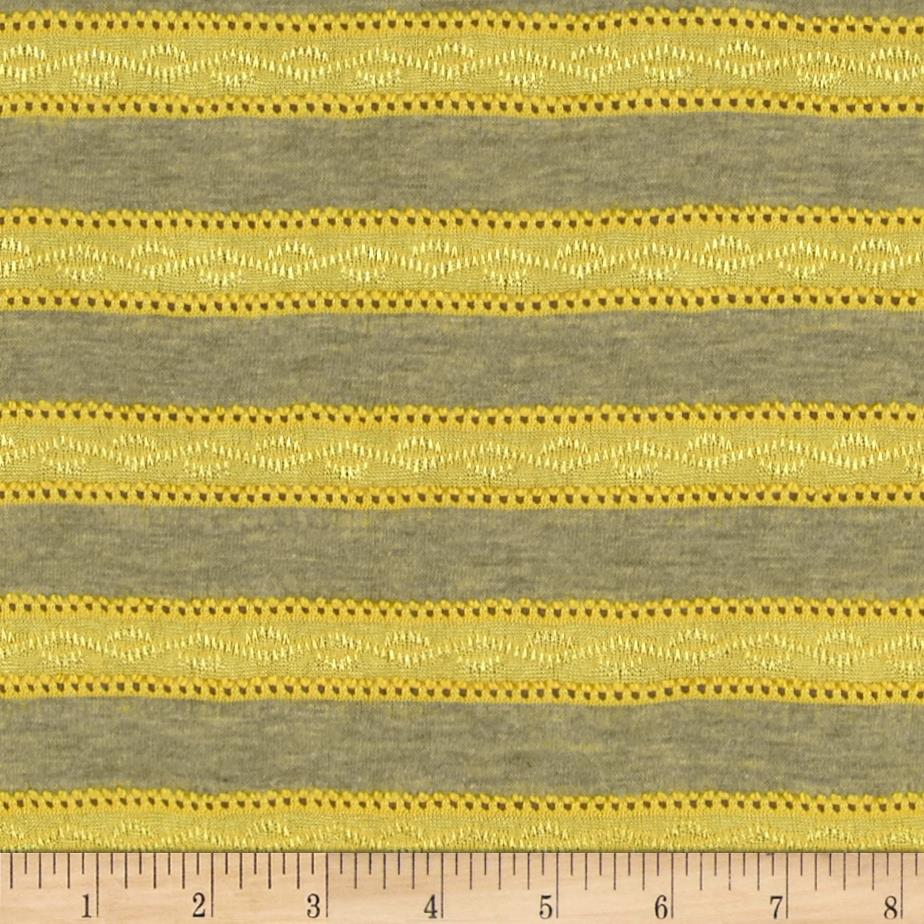 Novelty Yarn Dyed Jersey Knit Yellow