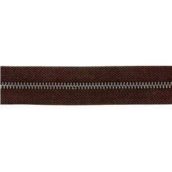 Riley Blake 1 1/4'' Zipper Trim Brown