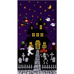 Happy Haunting 24 In. Panel Purple