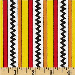 Camp Peanuts Stripe Yellow/Red Fabric