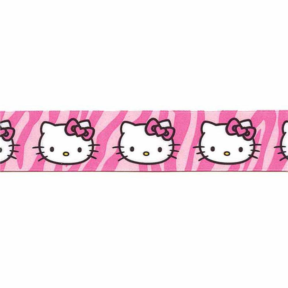7/8'' Hello Kitty Leopard Ribbon Pink