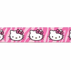 "7/8"" Hello Kitty Leopard Ribbon Pink"