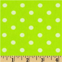 Peachskin Dots Neon Green/White