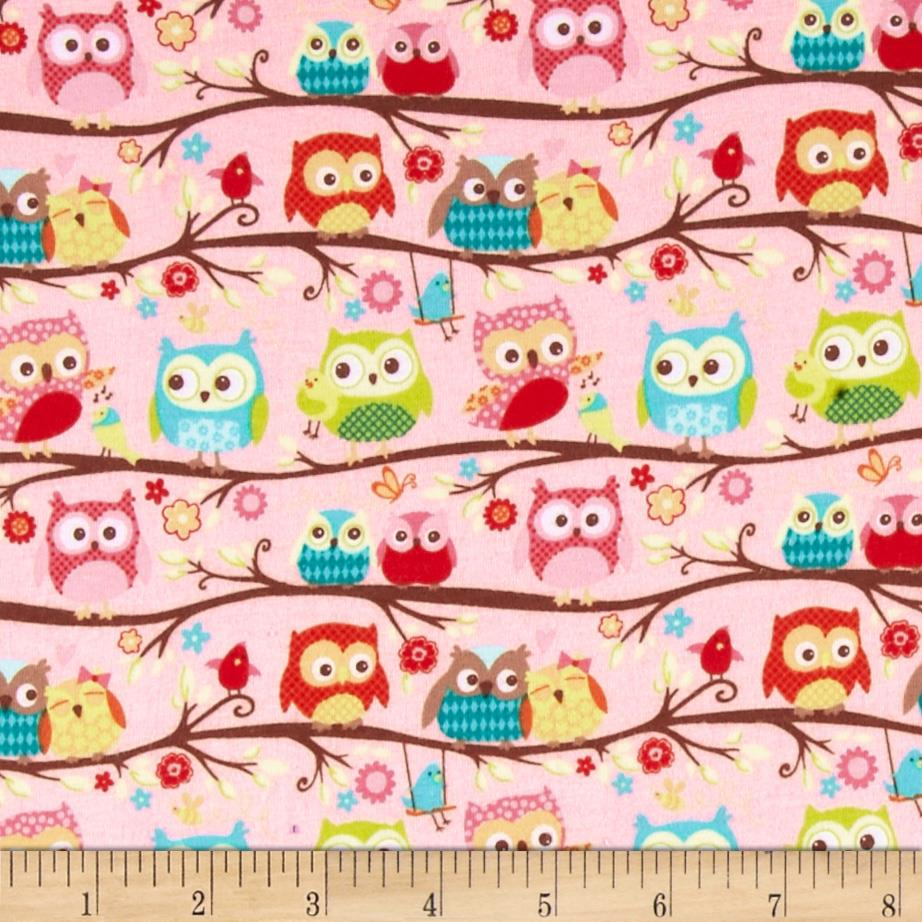 Riley Blake Cotton Jersey Knit Happy Flappers Owl